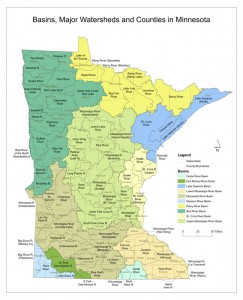 Minnesota Watershed Map
