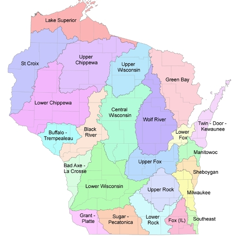 Wisconsin Watershed Map
